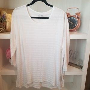 Style & Co Long Sleeve White Shirt 1x